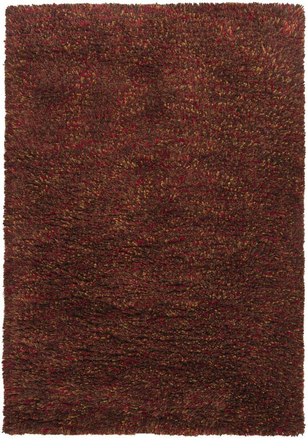Estilo Collection Hand-Woven Area Rug in Red, Gold, & Brown