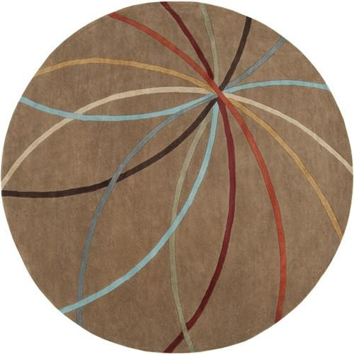 Forum Collection Wool Area Rug in Golden Brown and Multi design by Surya