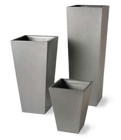 Geo Tapered Planters - Misc. Sizes - in Aluminum Finish design by Capital Garden Products