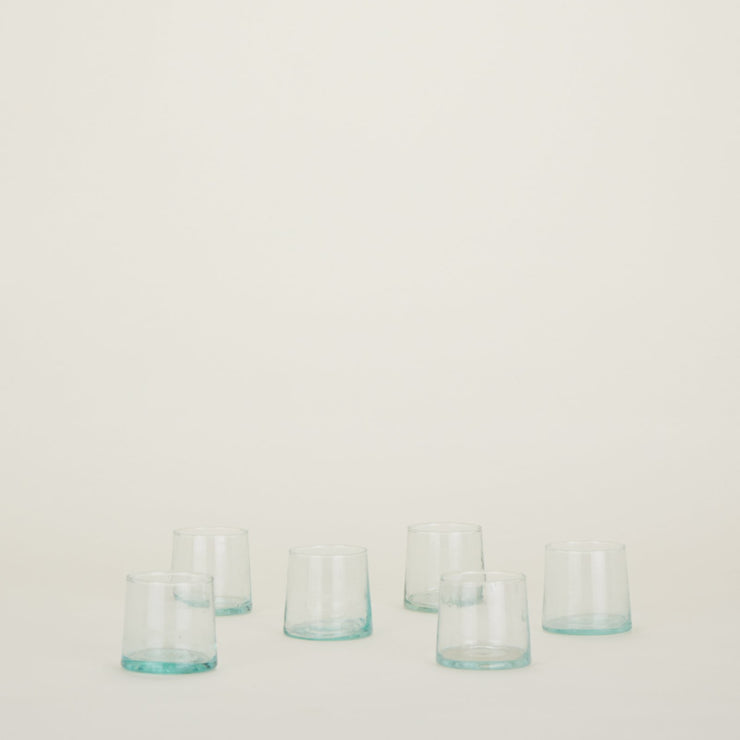Set of 6 Recycled Glassware Medium Tumblers by Hawkins New York