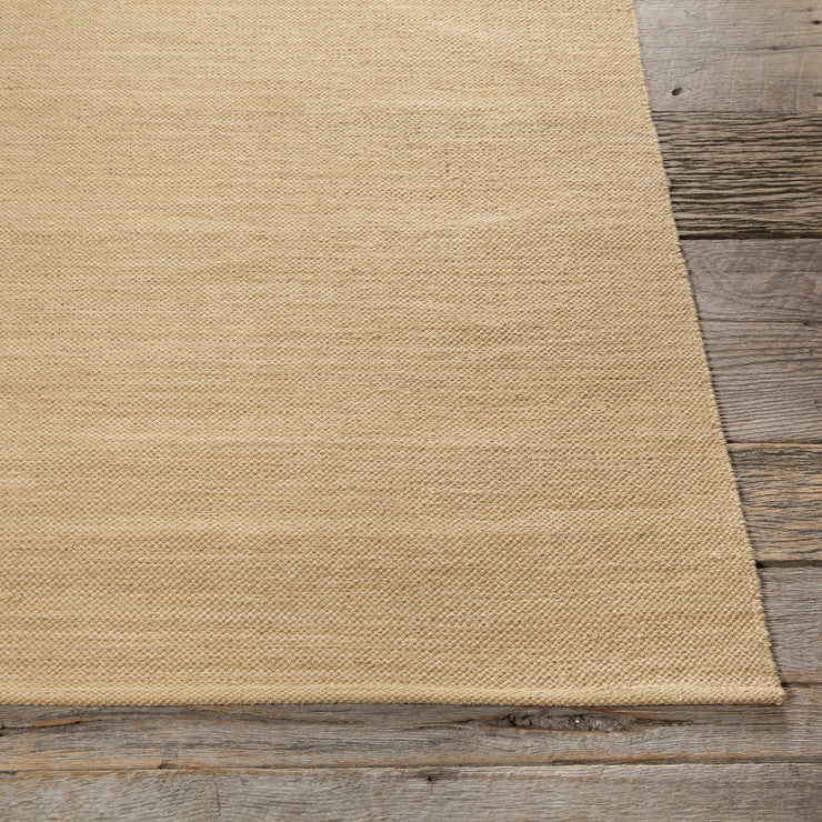 India Collection Hand-Woven Area Rug in Beige