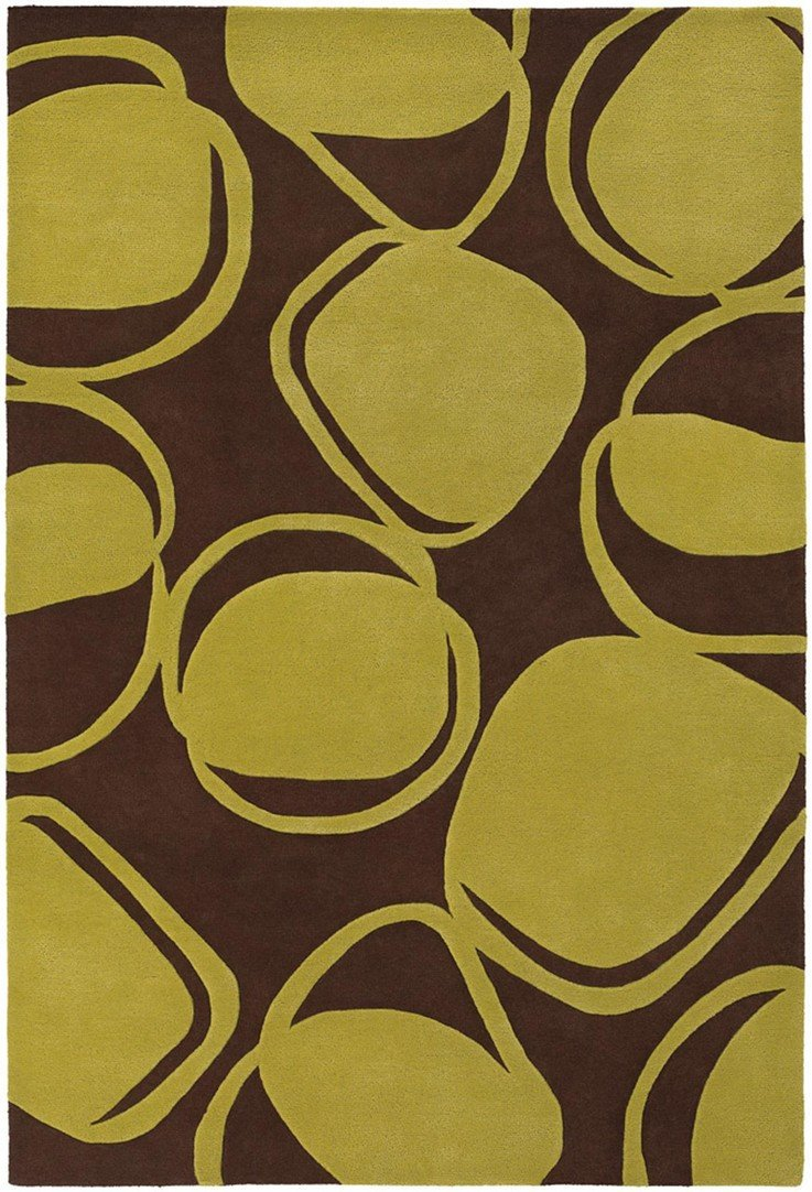 Inhabit Collection Hand-Tufted Area Rug, Brown & Green