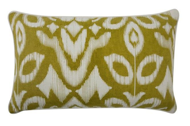 "Ikat 12"" x 20"" Reversible Pillow in Ochre design by Thomas Paul"