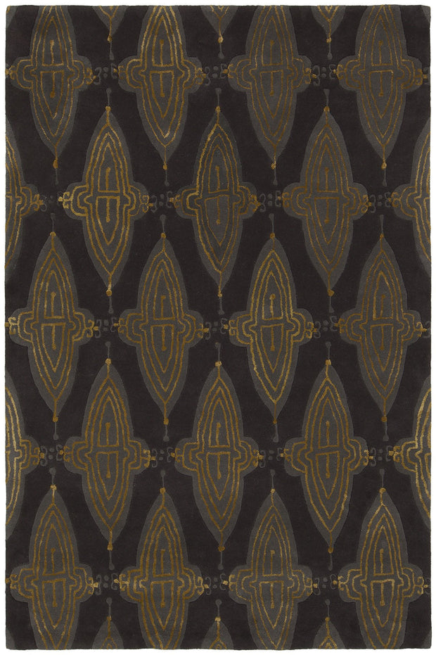 Jessica Swift Collection Hand-Tufted Wool Rug in Charcoal, Grey, & Gold