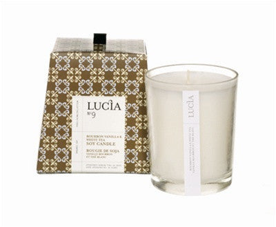 Lucia Bourbon Vanilla and White Tea Candle design by Lucia