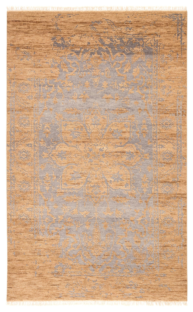 Abington Hand-Knotted Medallion Tan & Gray Area Rug