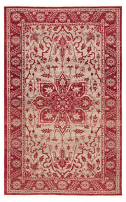 Abington Hand-Knotted Medallion Red & Beige Area Rug