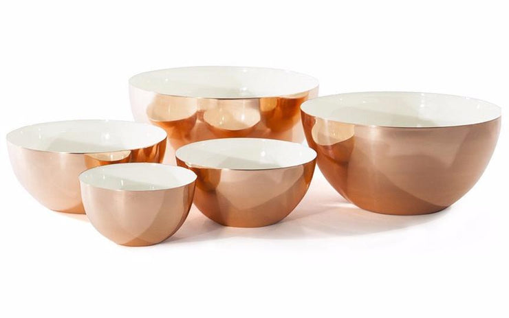 Louise Copper Bowls in Various Colors & Sizes design by Hawkins New York