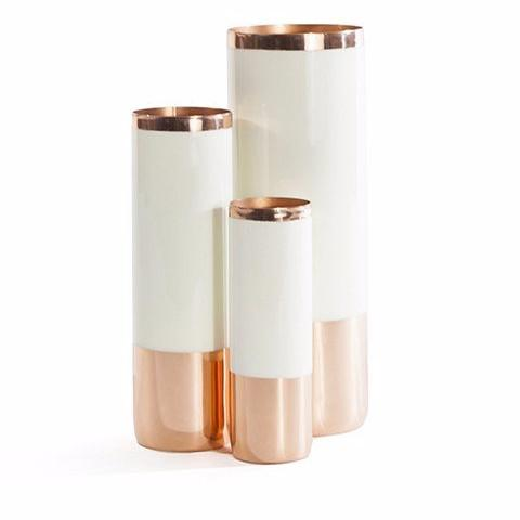 Louise Copper Vases in Various Colors & Sizes design by Hawkins New York