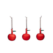 Red Glass Apples, Set of 3 by Iittala