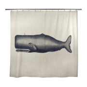 Moby Shower Curtain in Ink design by Thomas Paul