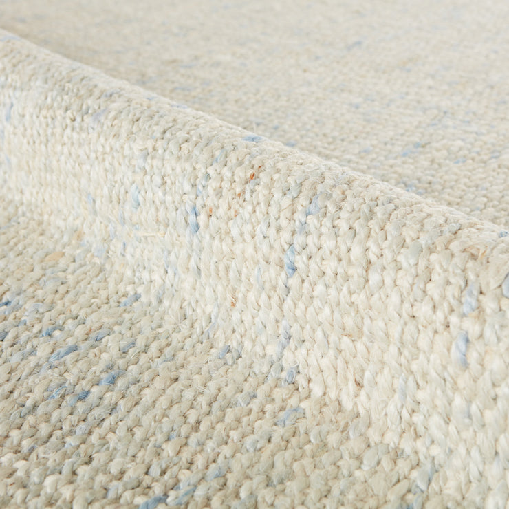 Bluffton Natural Solid Ivory & Blue Area Rug