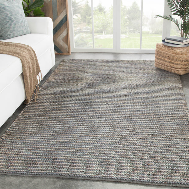 Aleah Solid Rug in Monument & Dark Slate design by Jaipur Living