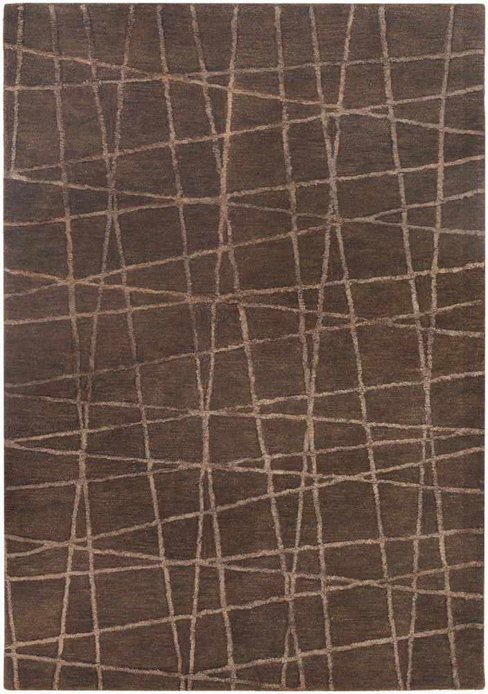 Oslo Collection Hand-Tufted Area Rug in Brown & Light Brown