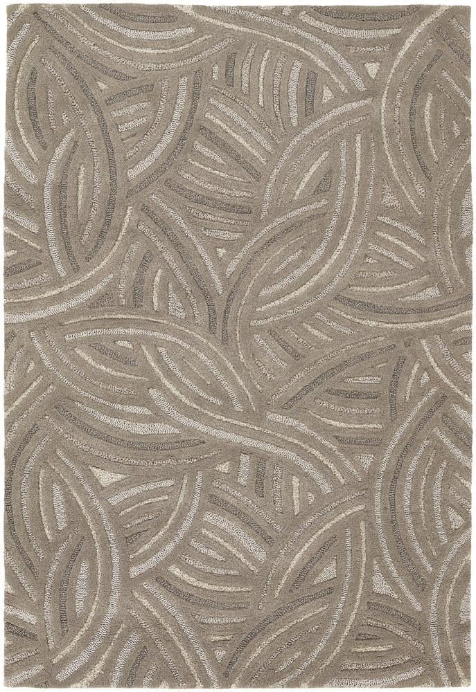 Penelope Collection Hand-Tufted Area Rug in Taupe & Beige
