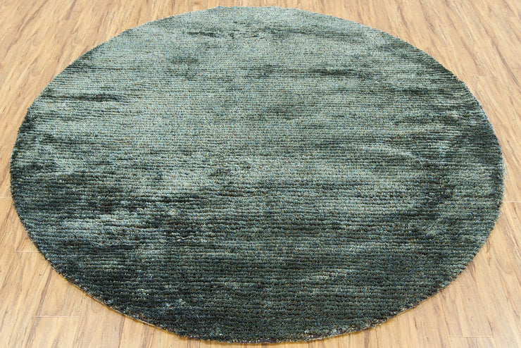 Royal Collection Hand-Woven Area Rug in Blue & Green
