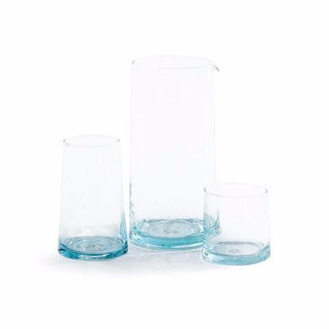 Set of 6 Recycled Glassware Large Tumblers design by Hawkins New York