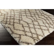 Rhapsody Collection Ultra Plush Area Rug in Ivory and Raw Umber design by Surya