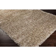 Rhapsody Collection Ultra Plush Area Rug in Papyrus, Tan, and Parchment design by Surya