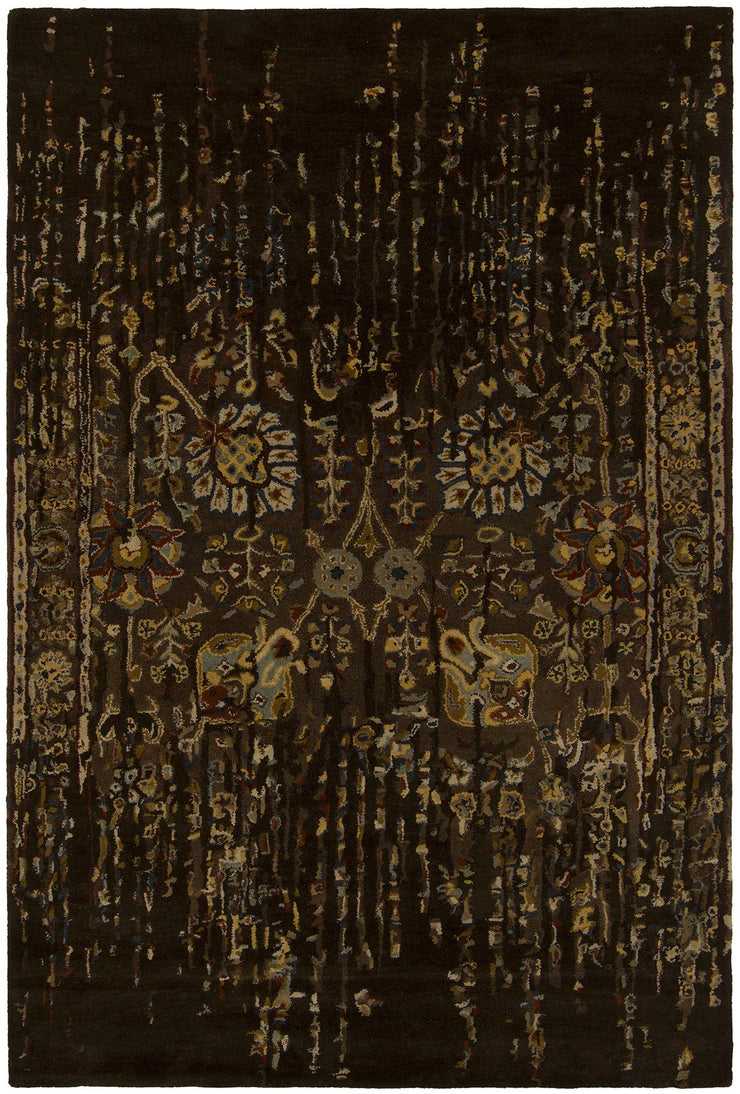 Spring Collection Hand-Tufted Area Rug in Black & Brown