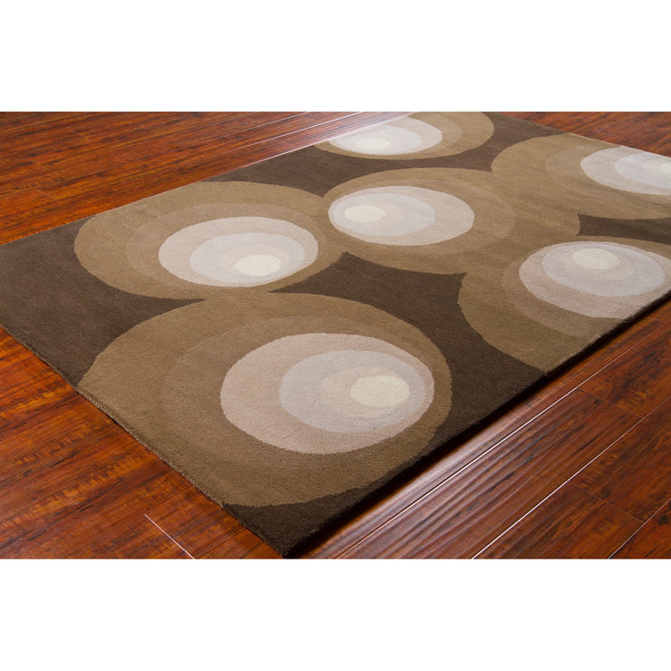 Stella Collection Hand-Tufted Area Rug in Brown, Grey, & Ivory