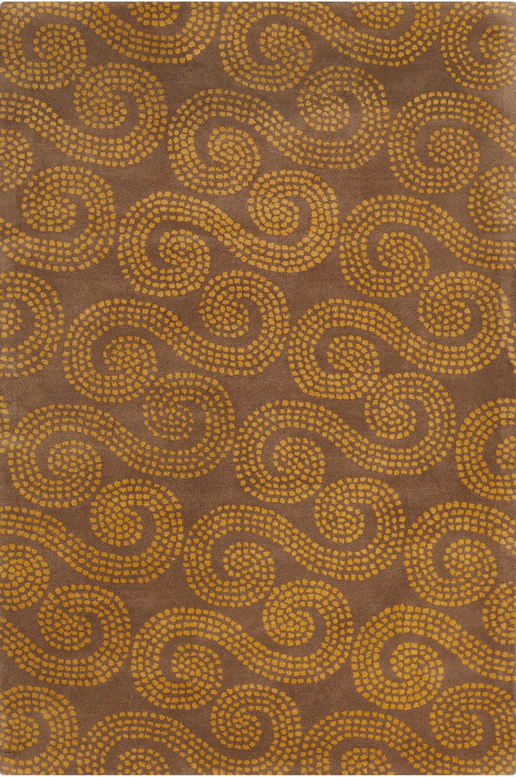 Stella Collection Hand-Tufted Area Rug in Brown & Gold