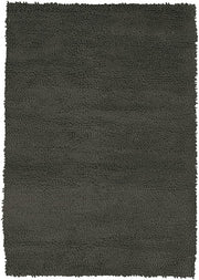 Strata Collection Hand-Woven Area Rug in Black