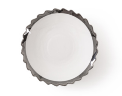 Diesel- Machine Collection Silver Edge Dessert Plate by Seletti