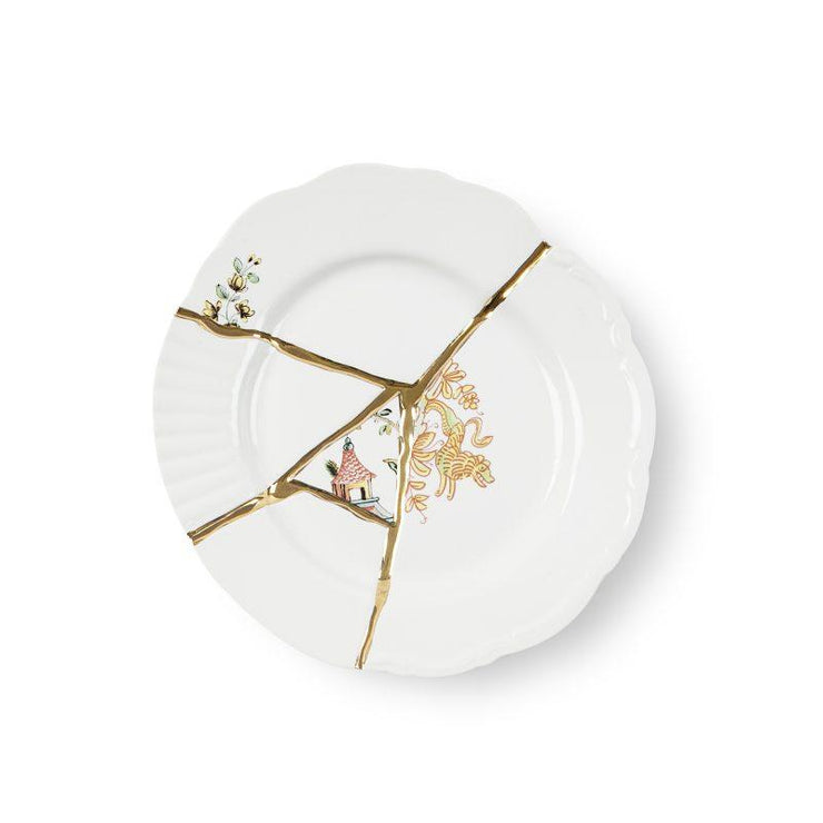 Kintsugi Small Dinner Plate 3 by Seletti