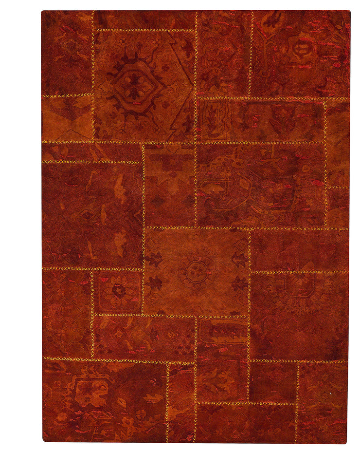 Tralee Collection Hand Tufted Wool Area Rug in Red design by Mat the Basics