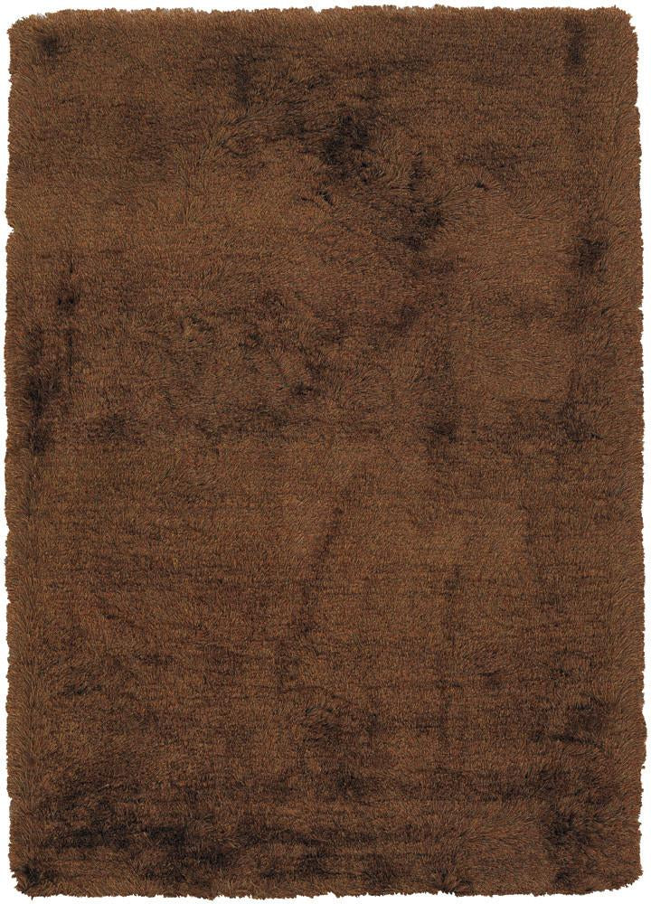 Vani Collection Hand-Woven Area Rug in Brown & Rust
