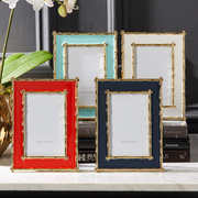 Brynn Gold Bamboo Border Photo Frames in Various Colors