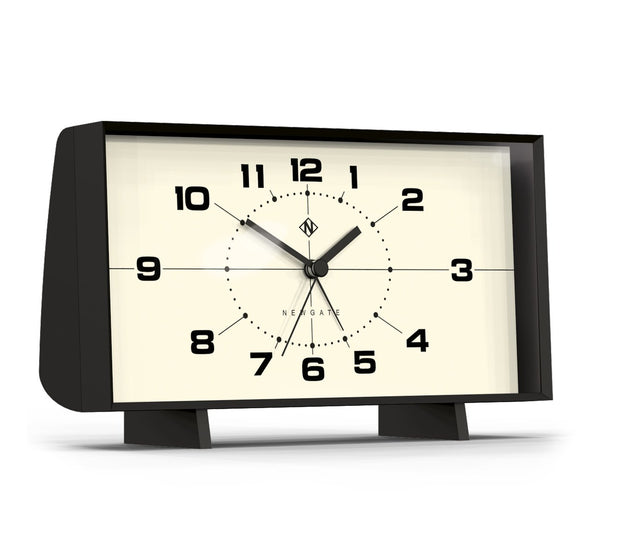 Wideboy Alarm Clock in Black with White Face design by Newgate