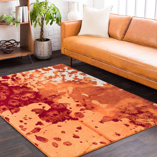 Aberdine Rug in Bright Orange & Rust
