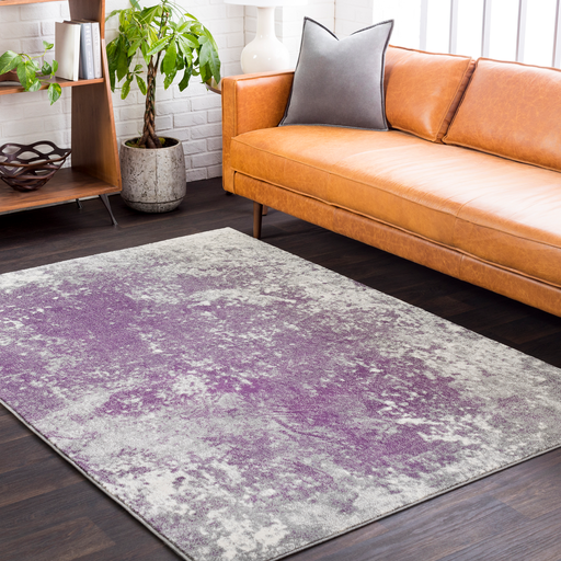 Aberdine Rug in Medium Gray & Dark Purple