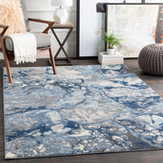 Aberdine Rug in Bright Blue & Navy