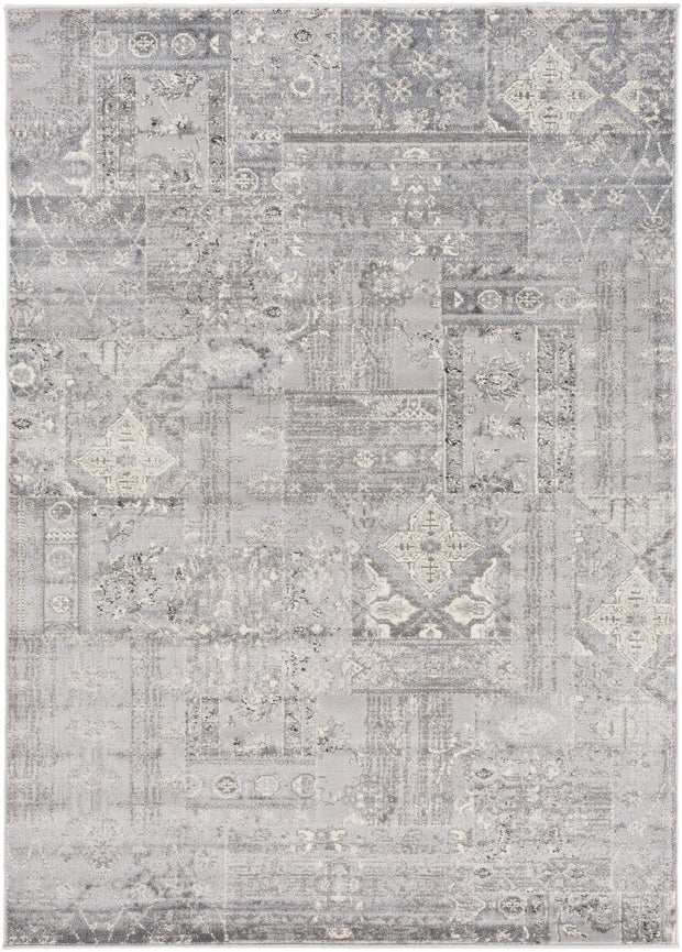 Amadeo Rug in Silver & White design by Surya