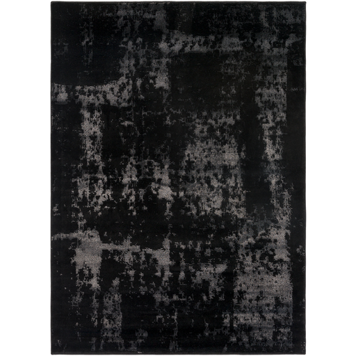 Amadeo Rug in Black & Light Gray