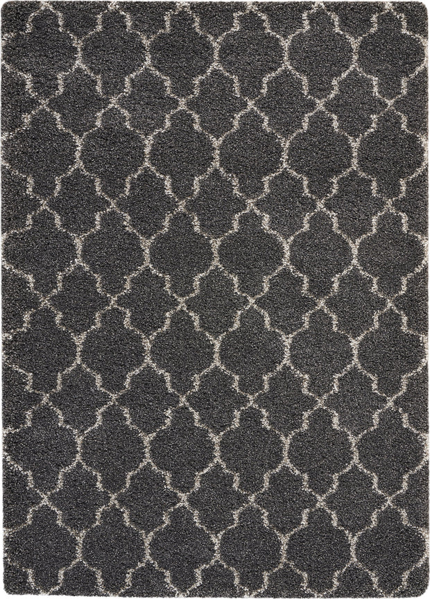 Amore Collection Shag Area Rug in Charcoal by Nourison