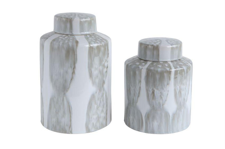Tall Decorative Stoneware Ginger Jar design by BD Edition