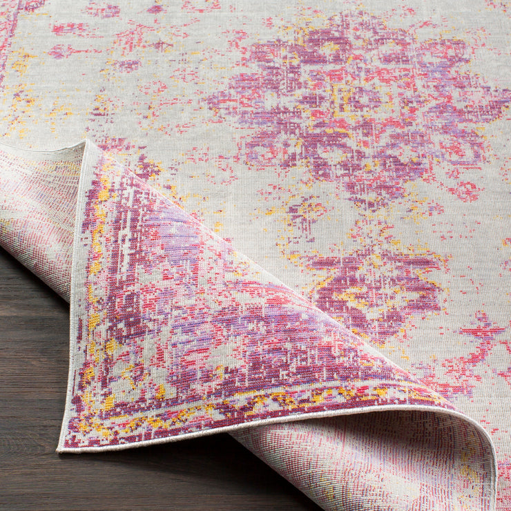 Antioch Rug in Pink & Gray