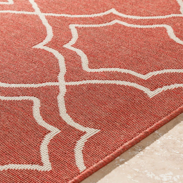 Alfresco Outdoor Rug in Rust & Khaki design by Surya