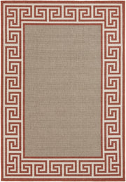 Alfresco Outdoor Rug in Copper & Camel design by Surya