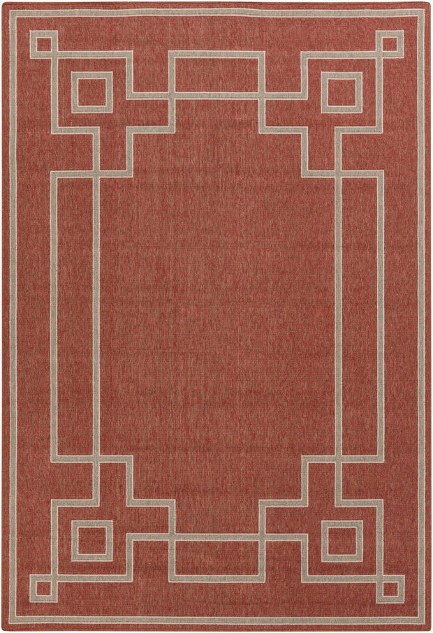 Alfresco Outdoor Rug in Rust & Camel design by Surya