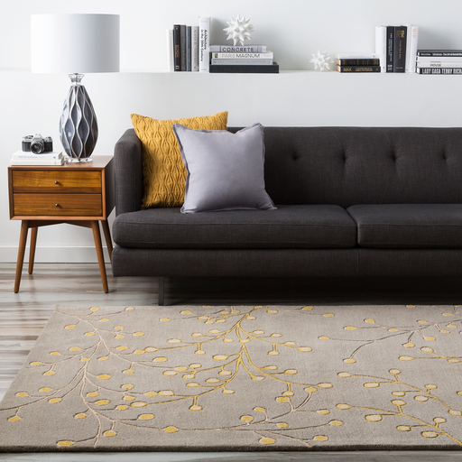 Athena Rug in Taupe & Mustard