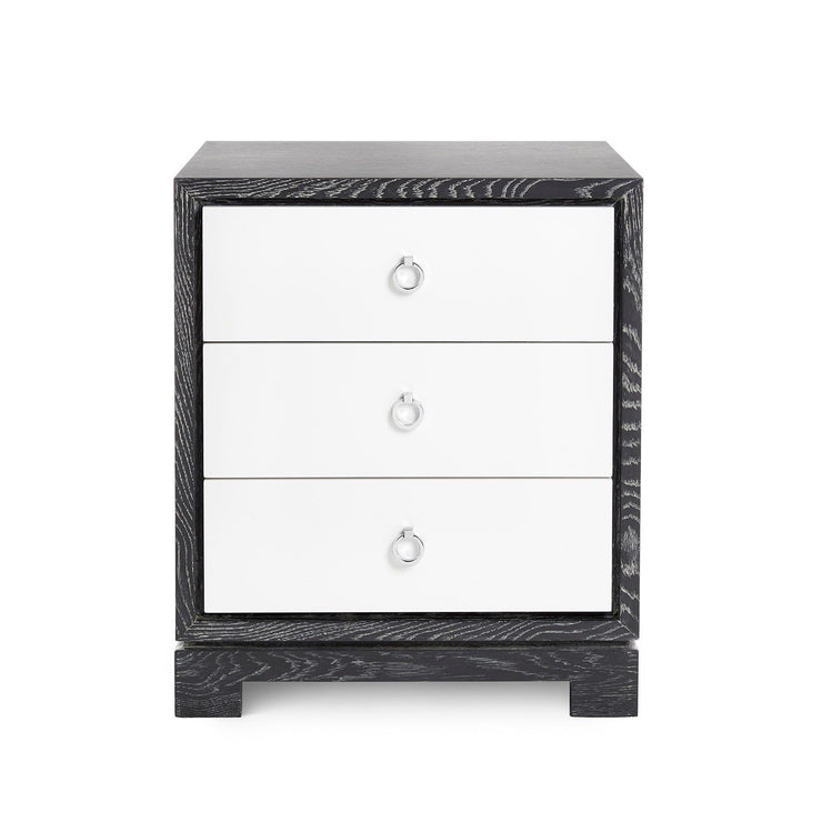 Berkeley Small Side Table in Grey & White