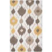 Brentwood Collection Area Rug in Feather Grey, Gold, and Antique White design by Surya