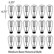 Historical Bulb 18 Count design by Robert Abbey