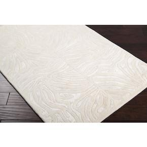 Modern Classics New Zealand Wool Area Rug in Ivory by Candice Olson for Surya rugs