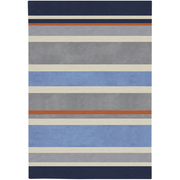 Chic Grey, Navy, & Orange Kids Rug